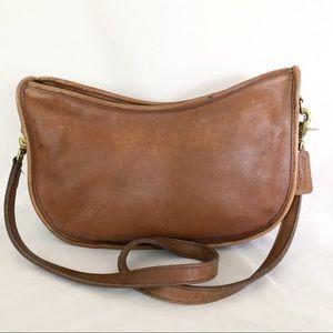Vtg Coach Brown Leather Shoulder Bag Purse 6712